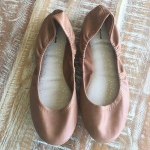 Time and Tru Target faux leather ballet flats